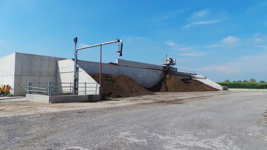 L'impianto per la produzione del separato solido partendo dal digestato proveniente dall'impianto di biogas