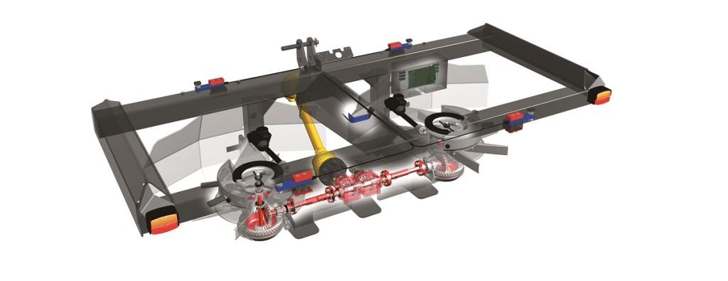È un RotaFlow dove la tramoggia è fissata al telaio e appoggia su quattro celle da 5 tonnellate ciascuna: questo impedisce al peso del telaio di influenzare il processo di pesatura in continuo.